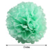 "12 Pack 8"" Tea Green Paper Tissue Fluffy Pom Pom Flower Balls"