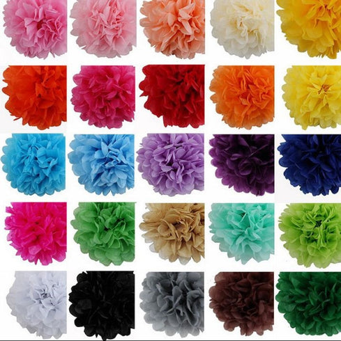 Paper Tissue Pom Pom 14 inch - Purple - 12pcs