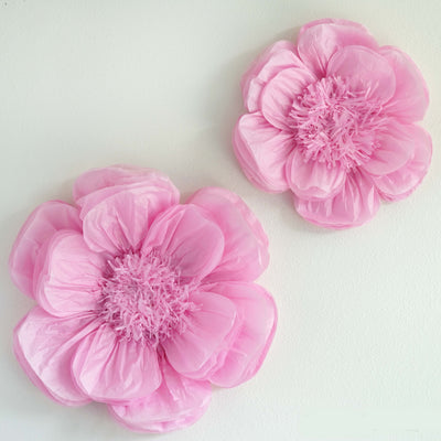 2 Size Pack Peony Pink 3d Wall Flowers Giant Tissue Paper Flowers 12 16