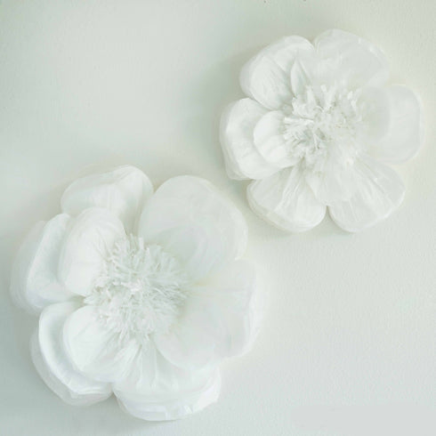 "2 Pack 12"" & 16"" White Giant Bloomed Peony Paper Flower"