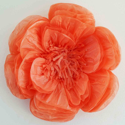 20 coral diy giant bloomed peony paper flower wall backdrop decor 2 pack 20 coral giant bloomed peony paper flower mightylinksfo