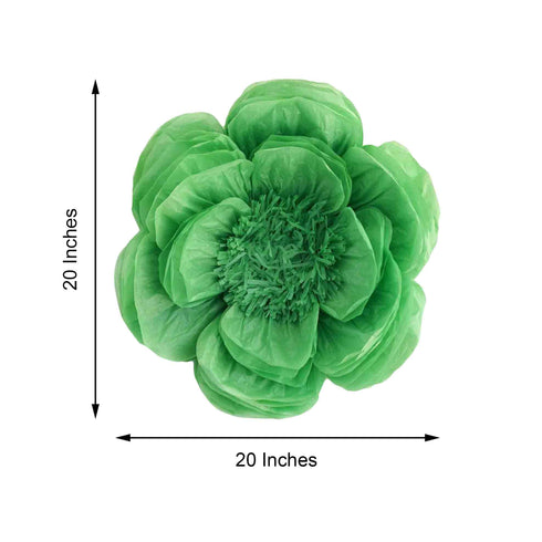 "20"" Peony Mint Green 3D Wall Flowers Giant Tissue Paper Flowers"