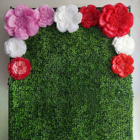 "20"" Peony Natural Sand 3D Wall Flowers Giant Tissue Paper Flowers"