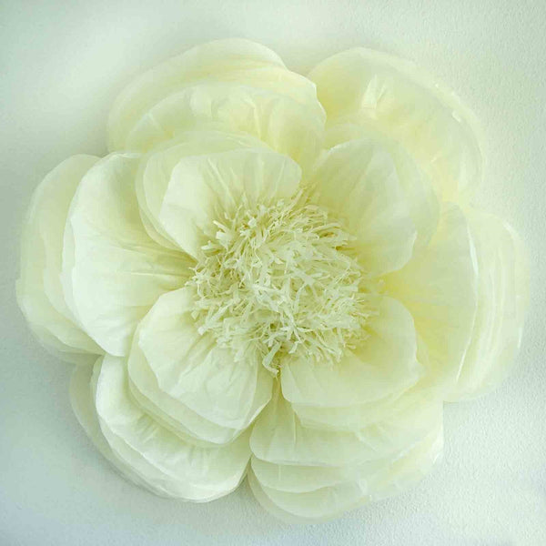 Paper flower wholesale craft flowers efavormart 20 ivory giant bloomed peony paper flower mightylinksfo