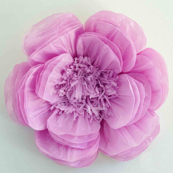 "20"" Peony Lavender 3D Wall Large Tissue Paper Flowers Wholesale"