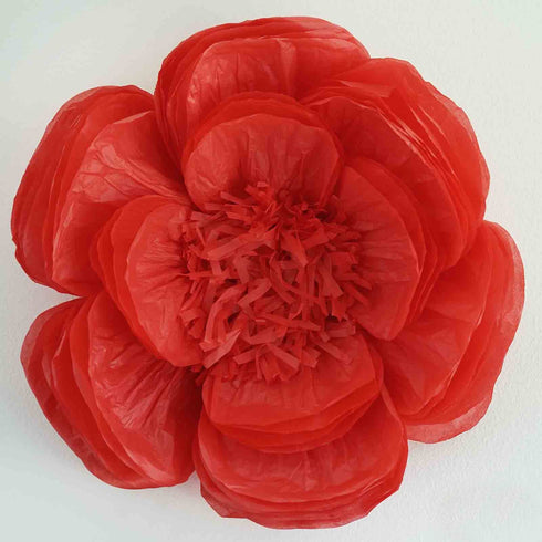 "2 Pack 20"" Red Giant Bloomed Peony Paper Flower"