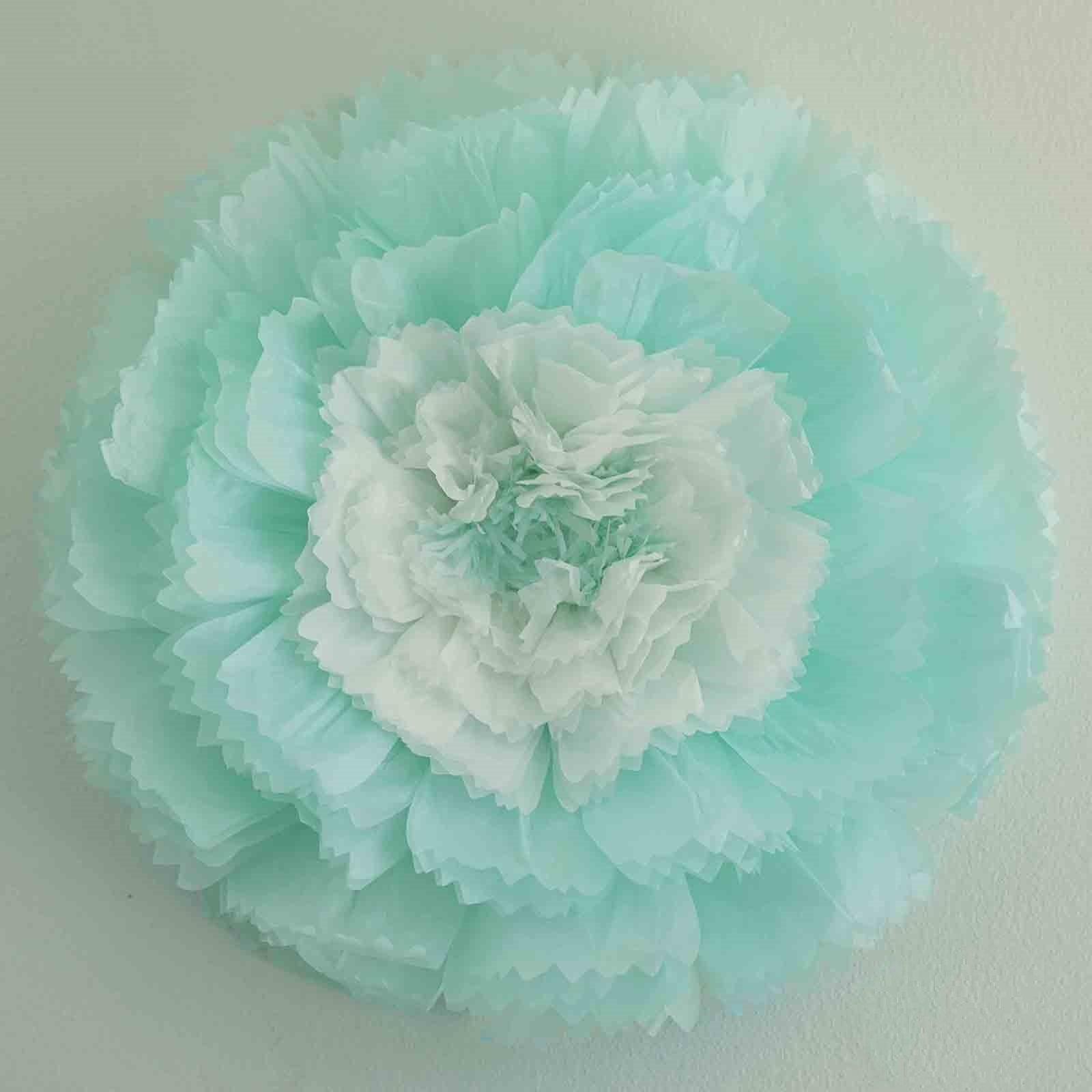 20 Carnation Blue 3d Wall Flowers Giant Tissue Paper Flowers