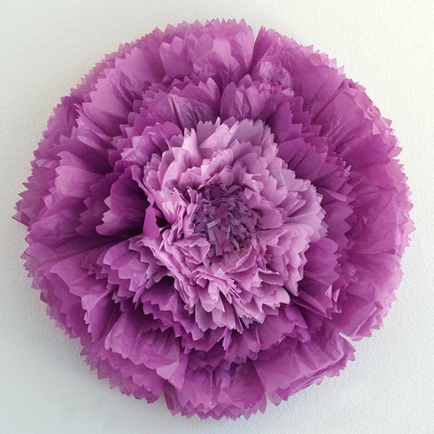 "2 Pack 20"" Purple Giant Carnation Paper Flower"
