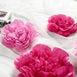 6 Pack Pink & Fushia Giant Paper Flowers Peony Assorted Sizes -  12"
