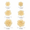 Pack of 6 - Ivory & Cream Assorted Size Paper Peony Flowers - 7"