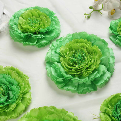 Pack Of 6 Mint Green Multi Size Carnation 3d Giant Paper Flowers Paper Flower Backdrops Wedding Wall 7 9 11