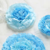 "Pack of 6 | Aqua Blue | Multi-size Carnation 3D Giant Paper Flowers | Paper Flower Backdrops Wedding Wall | 7""/9""/11"""
