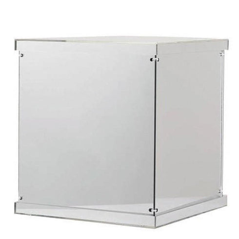 12 inch Mirror Finished Acrylic Pedestal Risers - Display Boxes with Interchangeable Lid and Base