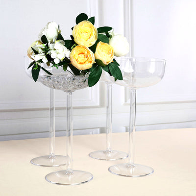 4 Pack | 18\  Long Stem Martini Flower Vase With Fillable Stem | eFavorMart  sc 1 st  eFavormart.com : plastic flower vase - startupinsights.org