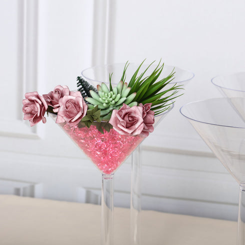 "4 Pack | 18"" Martini Flower Vase With Fillable Stem"