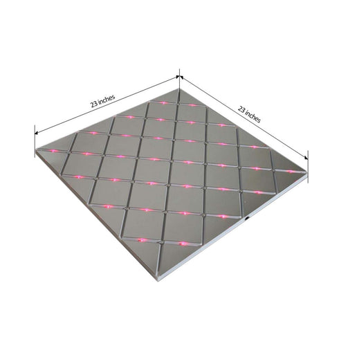 8 Pack | 2FT x 2FT Illuminated Mirror LED Dance Floor