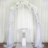 3.5 Ft Sparkling Silver Mosaic Mirror and Pearl Centerpiece