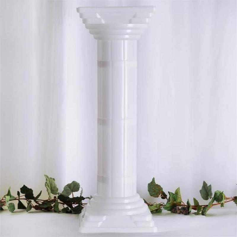 Decorative Ancient Pedestal Roman Inspired Gold//White 3 inch