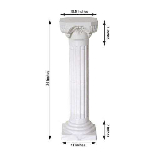 4 Pack 3 Ft Tall Height Adjustable Empire Roman Columns