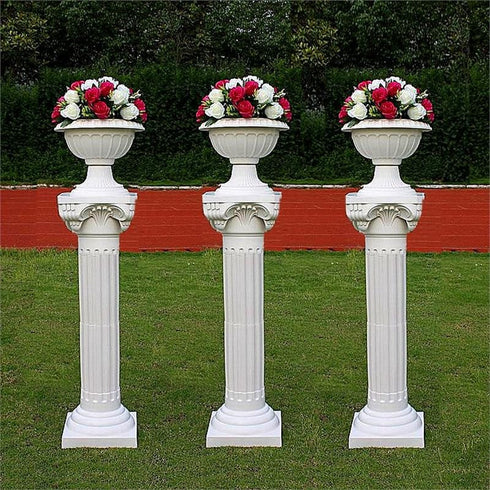 "36"" Tall Height Adjustable Empire Roman Decorative Party Columns - 4pcs"