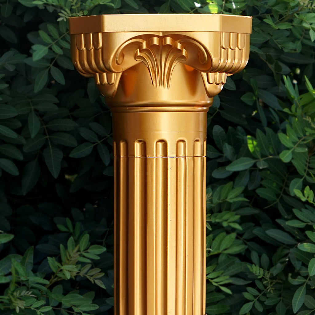 4 Pack 36 Quot Tall Gold Pvc Height Adjustable Roman