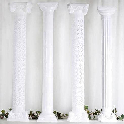 Empirical Roman PVC Columns Extension - 4/set