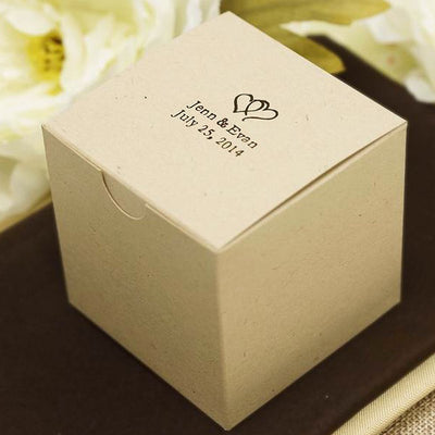 Personalized Custom Printed Natural Cake Box - 3x3x3 - 100pcs