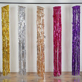 Glinting Metallic Foil Fringe Chandelier - Purple
