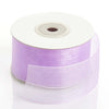 "25 Yards 1.5"" Lavender Organza Ribbon With Mono Satin Edge"