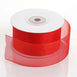 "25 Yards 1.5"" Red Organza Ribbon With Mono Satin Edge"