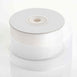 "25 Yards 1.5"" White Organza Ribbon With Mono Satin Edge"