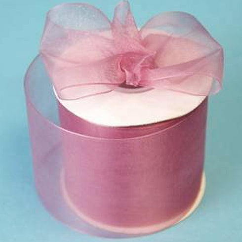 "2.75"" Organza Ribbon With Satin Edges - Rose Quartz - 25 Yard"