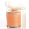 "25 Yards 3"" Peach Organza Ribbon With Satin Edges For Wedding Decoration"