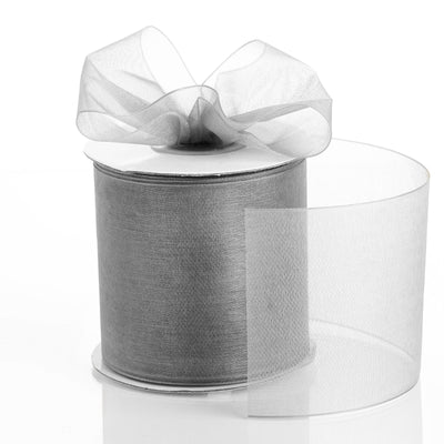 "25 Yards 3"" Silver Organza Ribbon With Satin Edges For Wedding Decoration"
