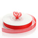 "25 Yard 3/8"" Red Organza Ribbon With Satin Edges"