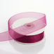 "25 Yard 7/8"" Eggplant Organza Ribbon With Mono Edge"