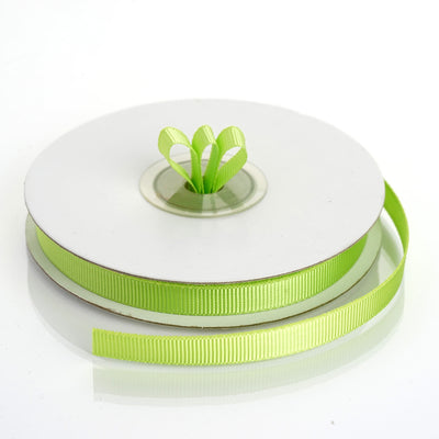"25 Yards 3/8"" Apple Green Grosgrain Ribbon"