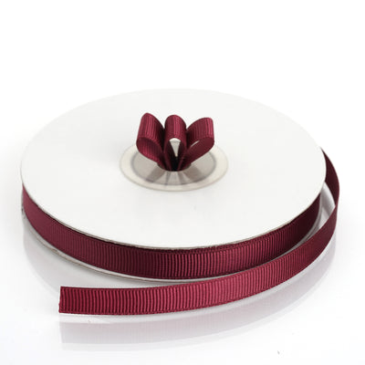 "25 Yards 3/8"" Burgundy Grosgrain Ribbon"