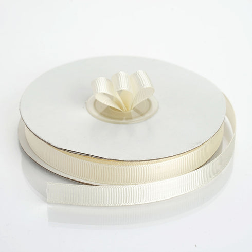 "25 Yards 3/8"" Ivory Grosgrain Ribbon"