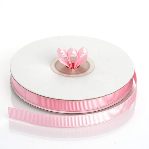 "25 Yards 3/8"" Pink Grosgrain Ribbon"