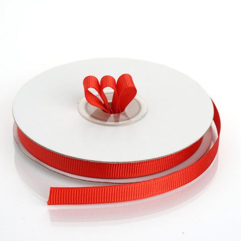 "25 Yards 3/8"" Red Solid Grosgrain Ribbon Wholesale"