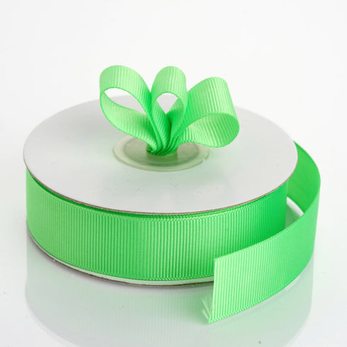 "25 Yards 7/8"" Apple Green Grosgrain Ribbon"