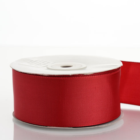 "25 Yards 1.5"" Burgundy Grosgrain Ribbon"