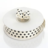 "7/8"" Polka Dot Ribbon-Ivory"