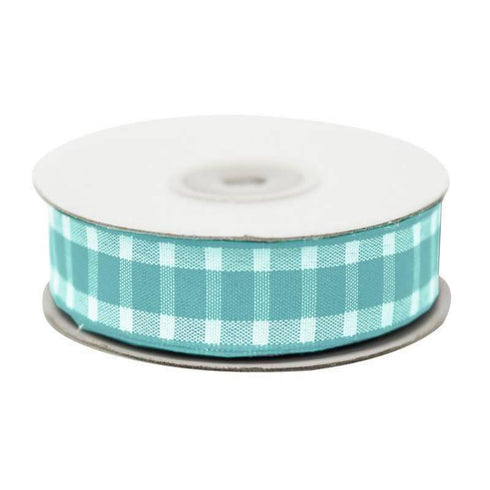 "Divergent Gingham Ribbon 5/8"" x 25yrds per roll-Blue"