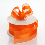 "25 yards 1.5"" Coral Orange Satin Center Ribbon"
