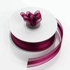 "25 Yards | 7/8"" DIY Burgundy Organza Ribbon Satin Center"