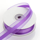 "25 Yards 7/8"" Purple Organza Satin Center Ribbon"