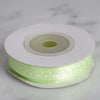 "25 Yards 1/8"" Apple Green Satin Polka Dot Ribbon Wholesale"