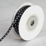 "25 Yards 1/8"" Black Satin Polka Dot Ribbon Wholesale"